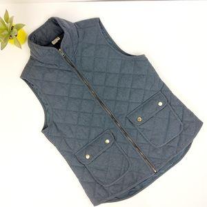 Artisan NY Blue Quilted Vest Size Medium